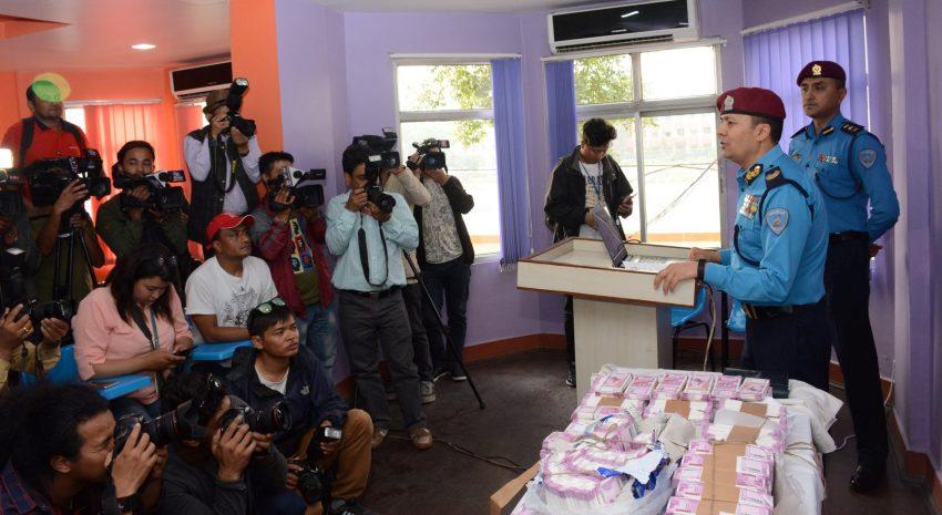 भारतीय नक्कली नोटसहित पक्राउ परेका ६ जनालाई सार्वजनिक