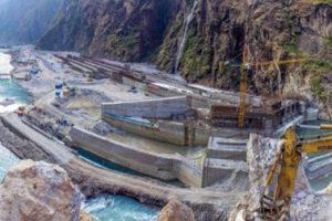 तल्लो साञ्जेन जलविद्युत् आयोजनाको संरचना निर्माण पूरा